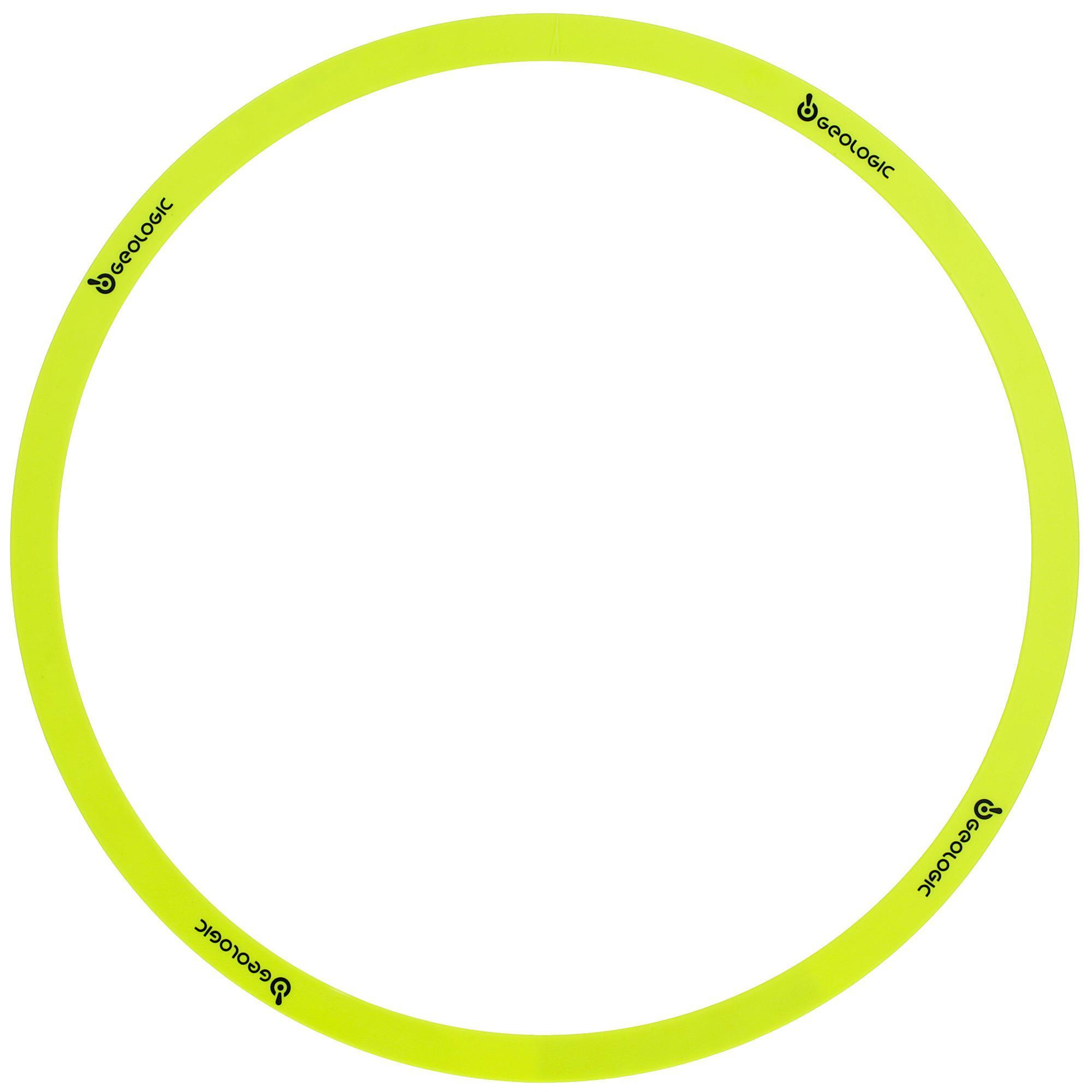 Cercle de pétanque officiel et pas cher de couleurs jaune fluo