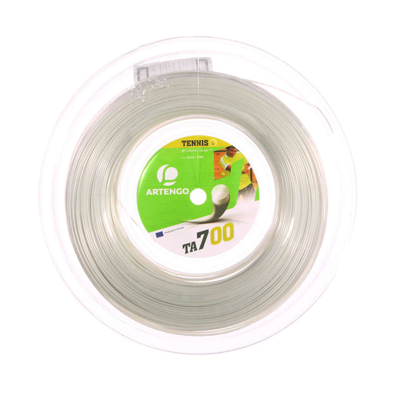 TENNIS STRINGS - ARTENGO TA700 REEL - WHITE ARTENGO - WHITE