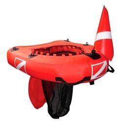 Planche gonflable de chasse sous-marine avec filet intégré Dive Net