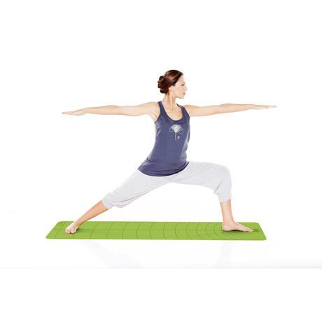 Yogahose 3/4 Pilates Gymnastik Biobaumwolle Damen, hellgrau | Domyos ...