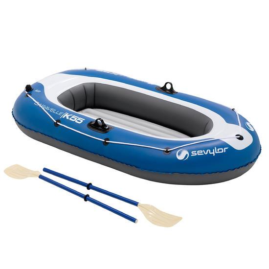 Opblaasboot Caravelle KK55 set blauw/grijs - 32274