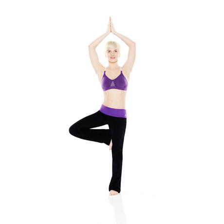 Pantalon en coton biologique gym douce yoga pilates for Haute 8 yoga