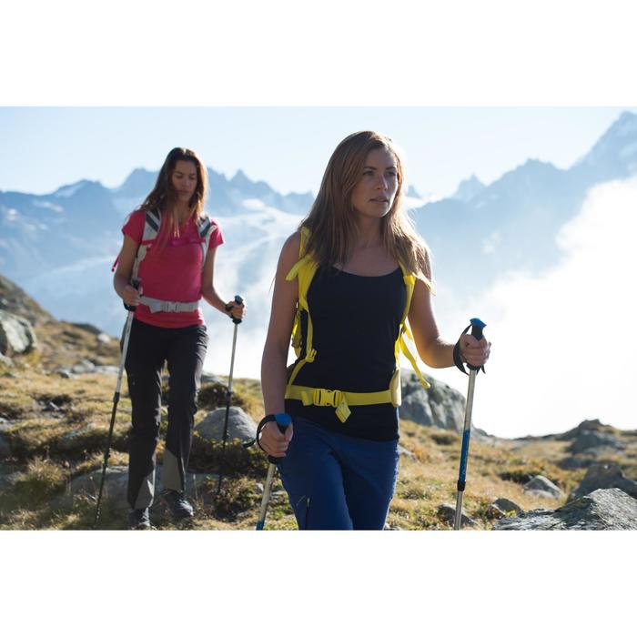 Wandersocken Forclaz 500 High hoch 2 Paar rosa/grau