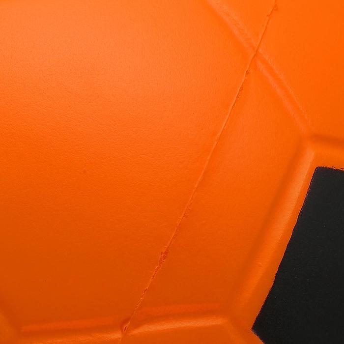 Ballon football mousse Wizzy taille 4 orange noir
