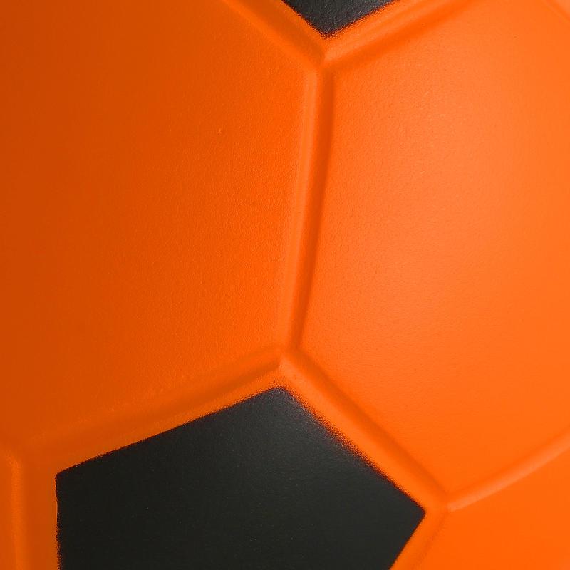 Balón de fútbol de espuma WIZZY talla 4 naranjo negro