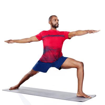 Short homme gym douce yoga gris foncé