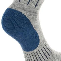 2 paar sokken Arpenaz Warm voor winterse trektochten, grijs en koraal - 324779