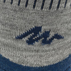 2 paar sokken Arpenaz Warm voor winterse trektochten, grijs en koraal - 324786