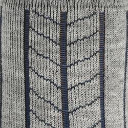 2 paar sokken Arpenaz Warm voor winterse trektochten, grijs en koraal - 324787