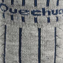 2 paar sokken Arpenaz Warm voor winterse trektochten, grijs en koraal - 324790