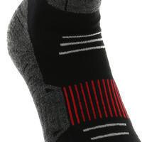SH520 X-Warm Mid Adult Snow Hiking Socks - Black, Red.