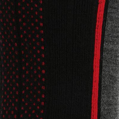 Medias de senderismo nieve adulto SH520 x-warm mid negro rojo.