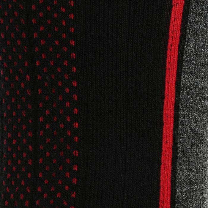 Calcetines de senderismo nieve adulto SH520 x-warm mid negro rojo.