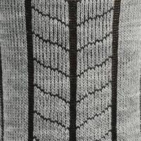Chaussettes de randonnée neige adulte SH100 chaudes mi-hauteur grises.