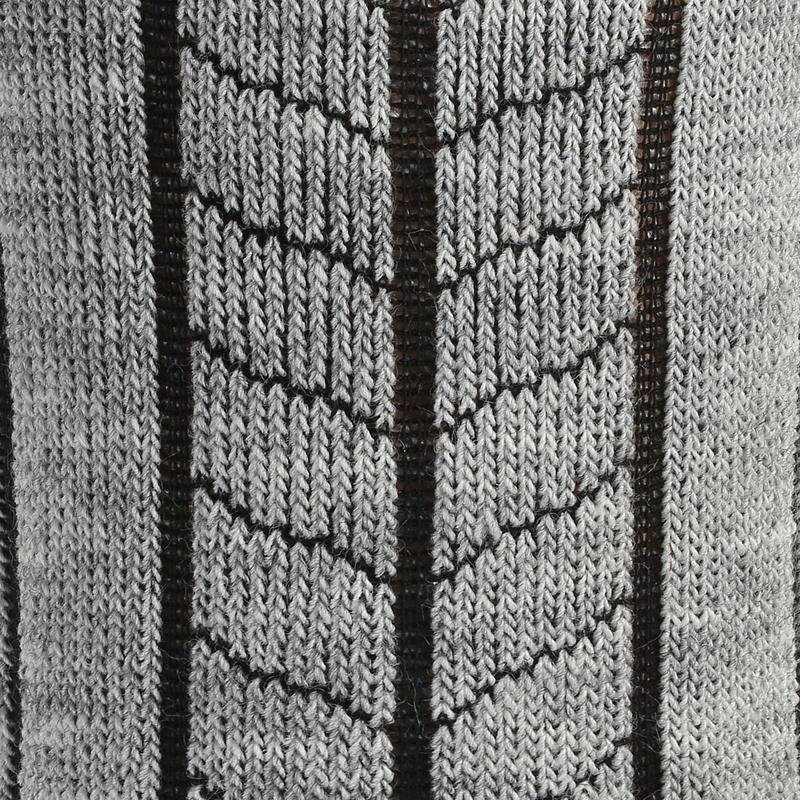 Chaussettes de randonnée neige adulte SH100 warm mid grises.
