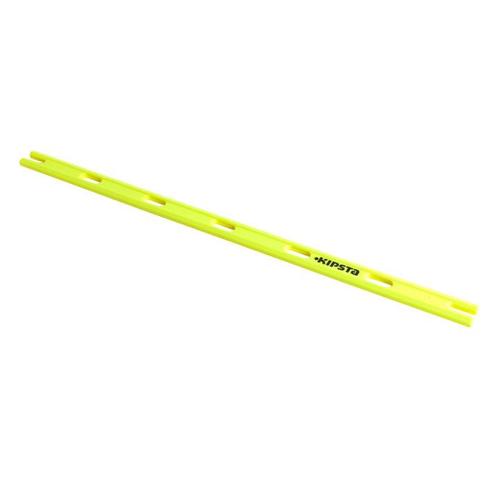 Set van 3 veelzijdige trainingsstokken 80 cm geel