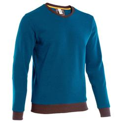 Men's nature hike pullover Arpenaz 100 blue