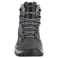 Forclaz 100 High Women's Waterproof Mountain Hiking Boots – Grey