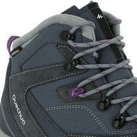Forclaz 100 High Women's Waterproof Mountain Hiking Boots – Grey
