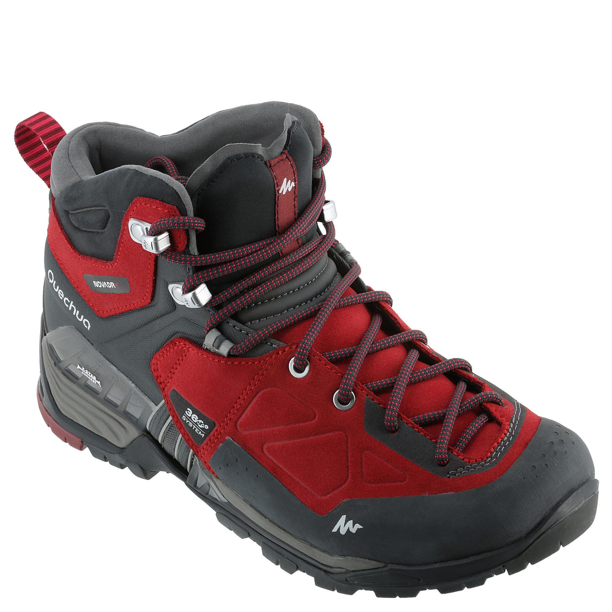 Forclaz 700 Mid Wtp Mountain Hiking Shoes Red Quechua
