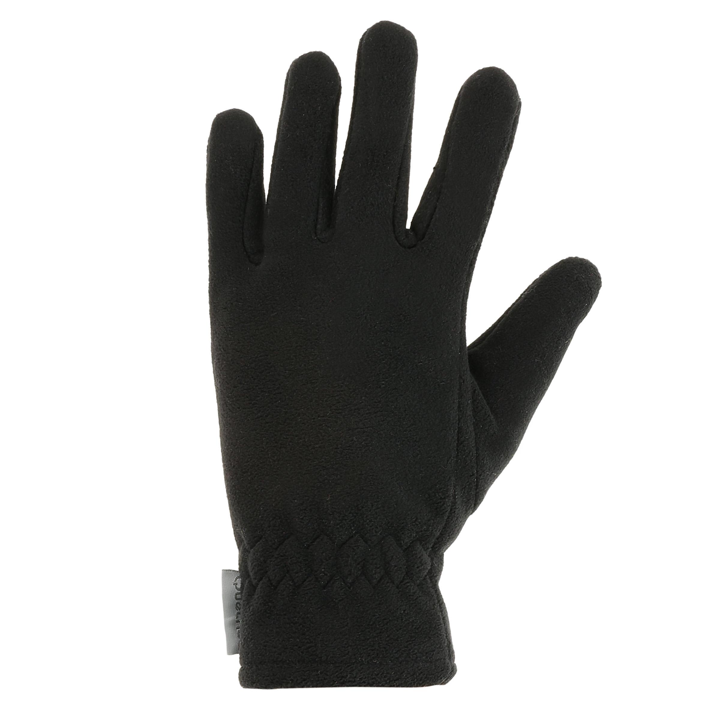 Gants polaire de randonnée junior SH100 warm noirs