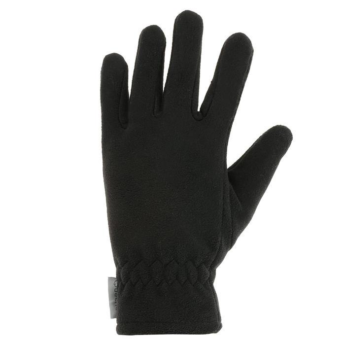 Gants polaire de randonnée junior SH100 warm noirs - 327343