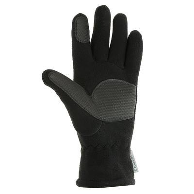 Дитячі рукавиці SH100 для туризму, флісові - Чорні