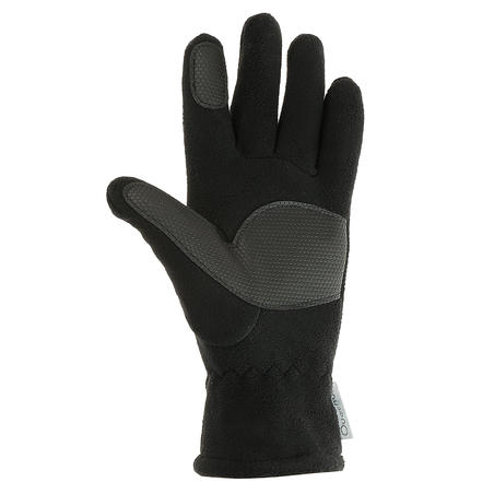 Kids Hiking Fleece Gloves MH500 - Black