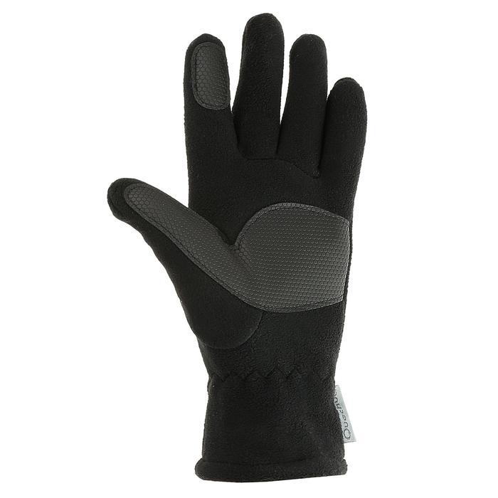 Gants polaire de randonnée junior SH100 warm noirs - 327344
