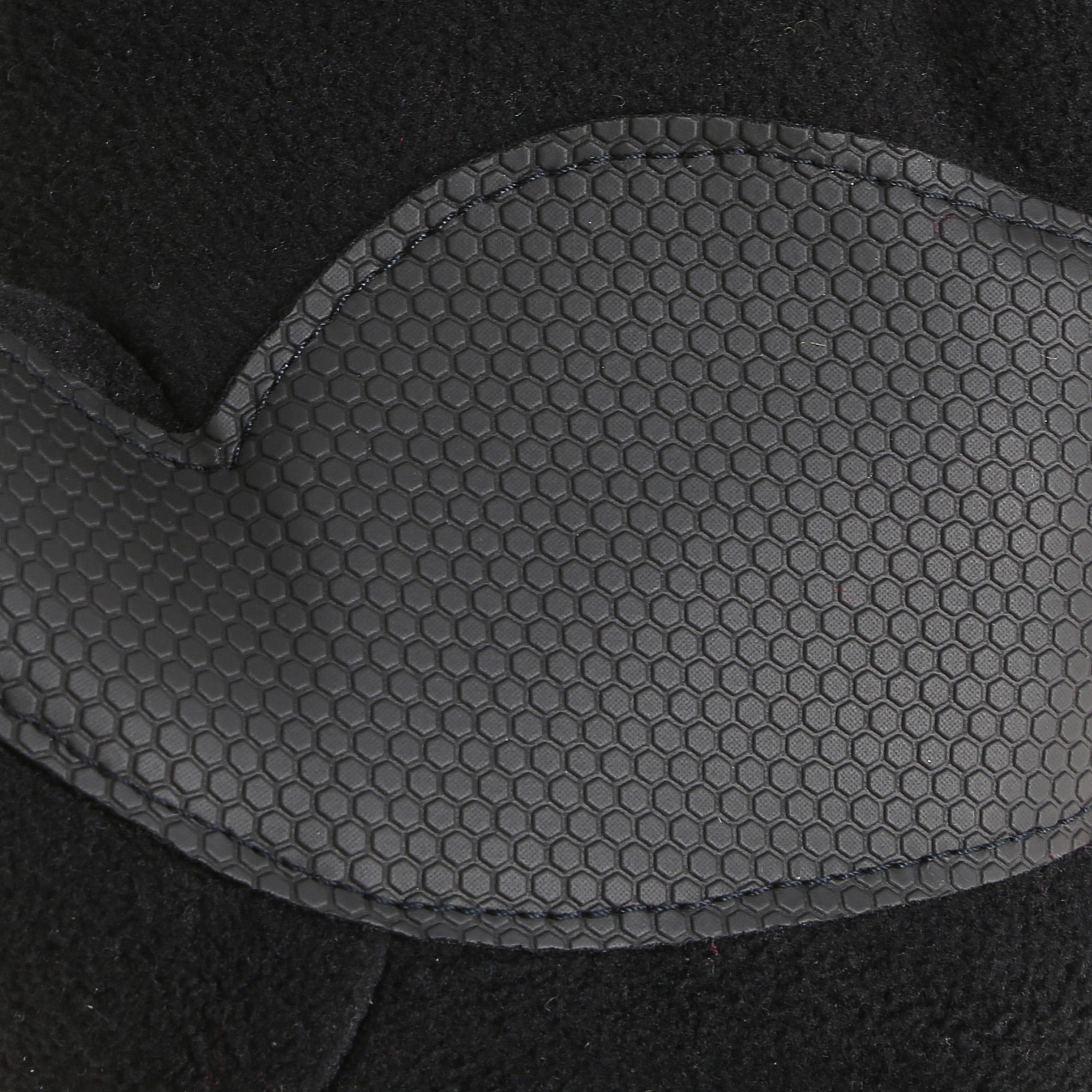 SH100 warm black junior hiking fleece gloves