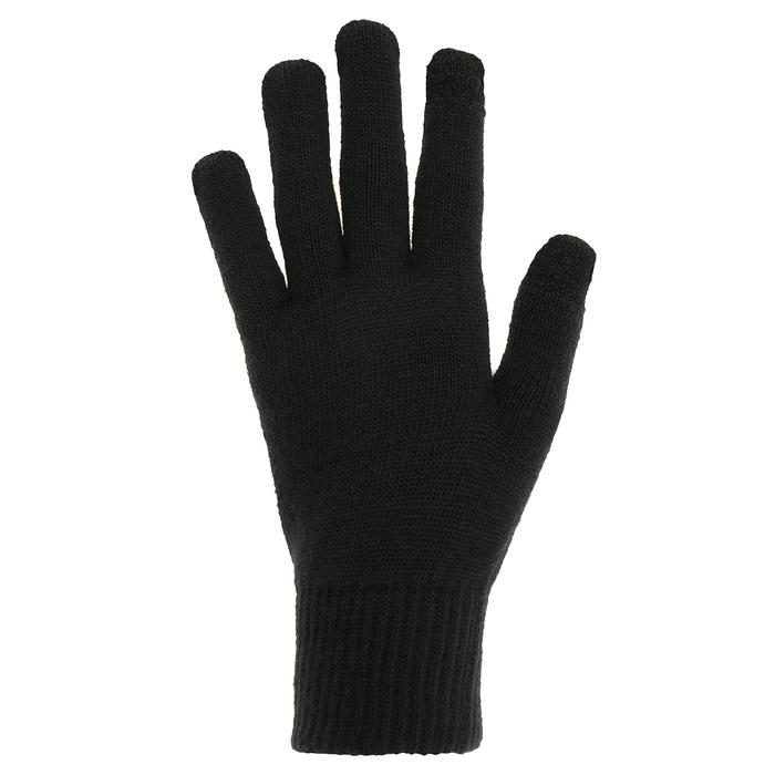 Gants trekking montagne TREK 500 maille tricotée adulte noir