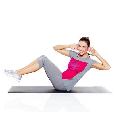 مرتبة / سجادة Fitness 100 لتمارين اللياقة البدنية - لون أسود