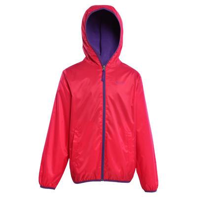 Chaqueta cálida e impermeable de excursionismo niña Hike 50 Warm Rosada