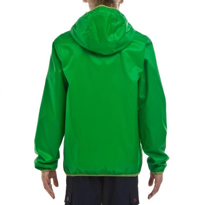 Jongensjas voor trekking Raincut Warm groen
