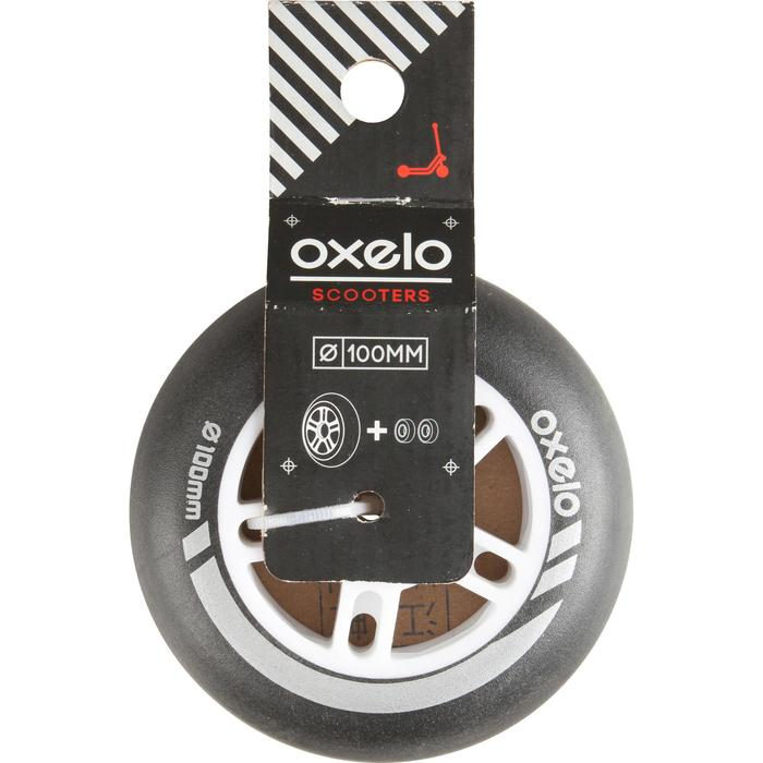 1 x 100 mm Scooter Wheel with Bearings - Black