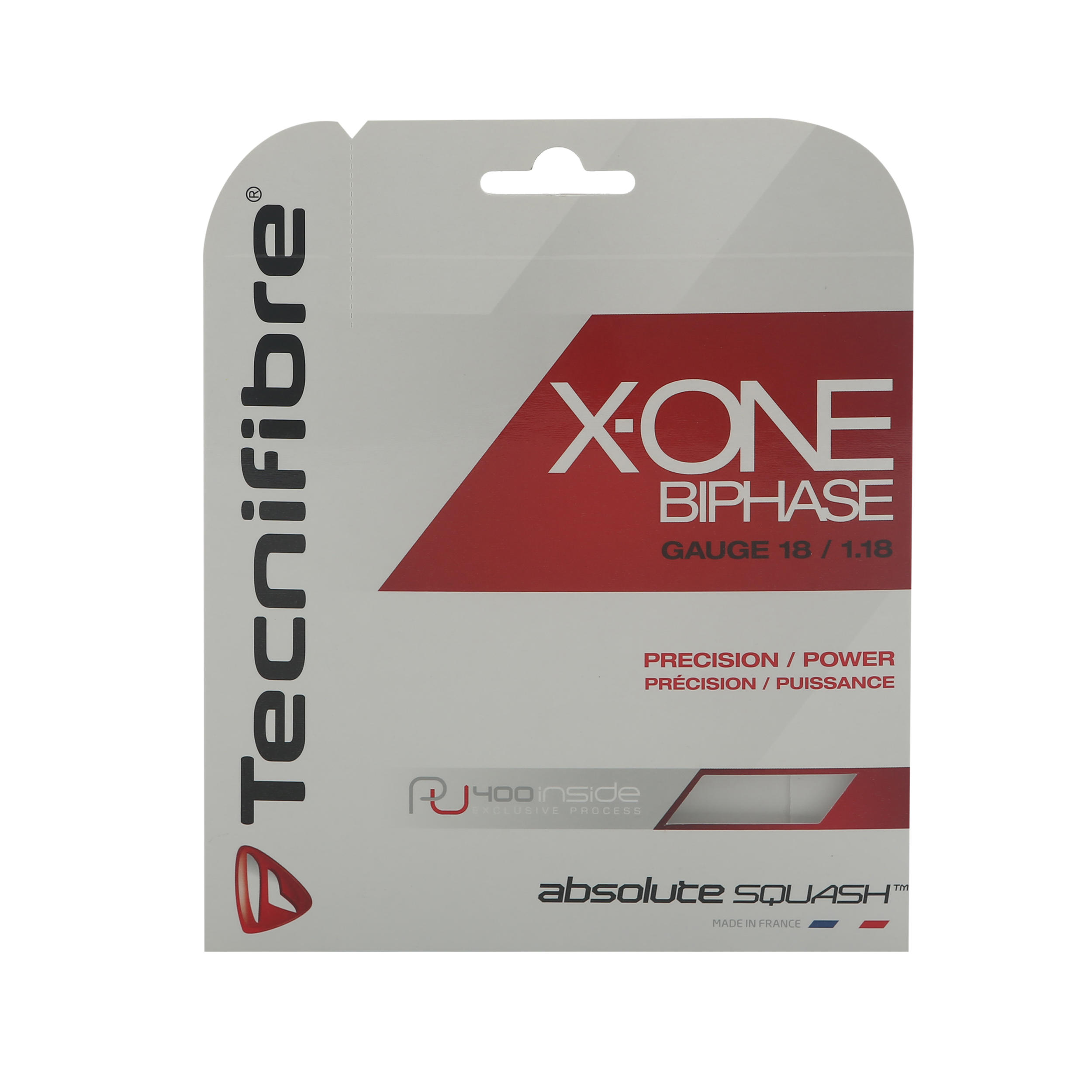 Tecnifibre Squashsnaar X-one biphase 1,18mm rood