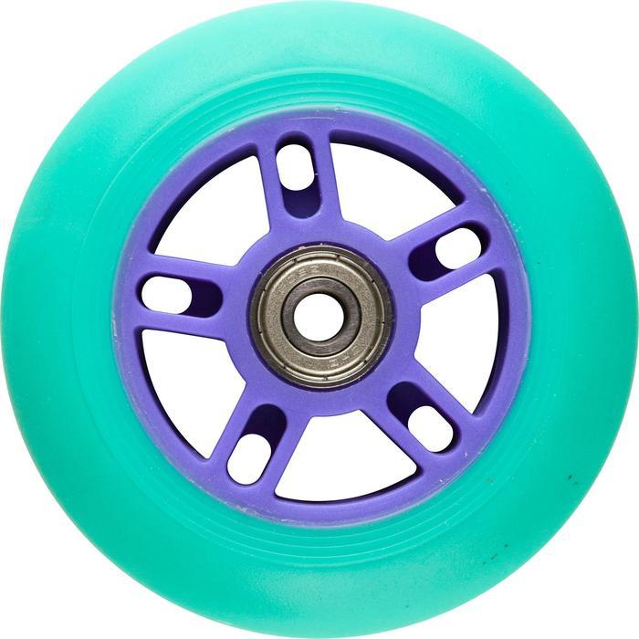 1 roue trottinette 100mm avec roulements noire - 32952