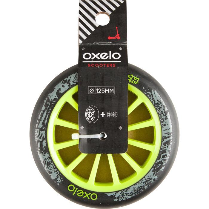 1 roue trottinette 125mm avec roulements noire - 32969