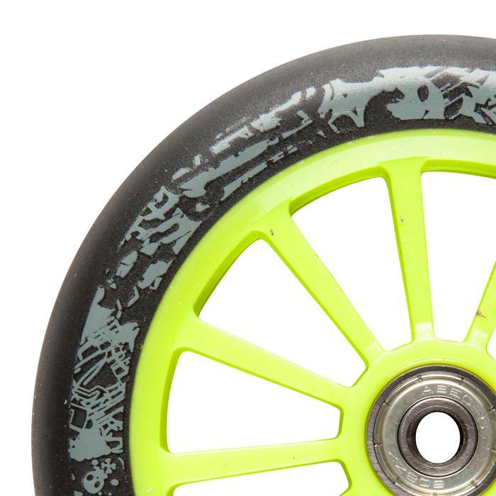 Scooter-Rolle 125 mm PU mit Kugellager grün