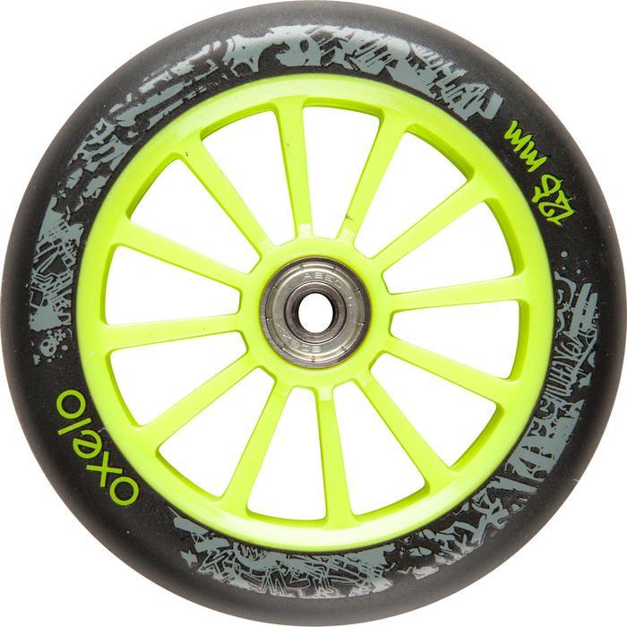 1 roue trottinette 125mm avec roulements noire - 32973