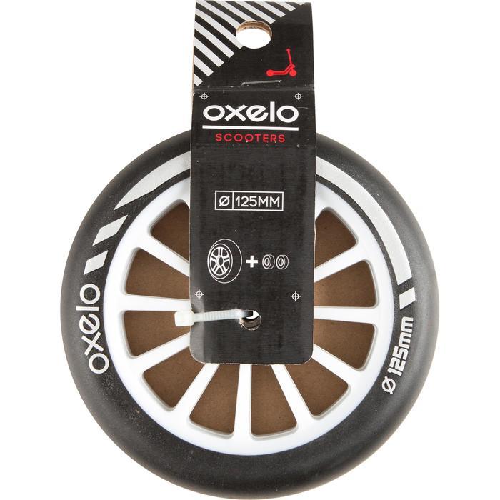 Scooter Rolle 125mm mit Kugellager schwarz