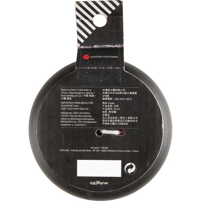 1 roue trottinette 125mm avec roulements noire - 32975