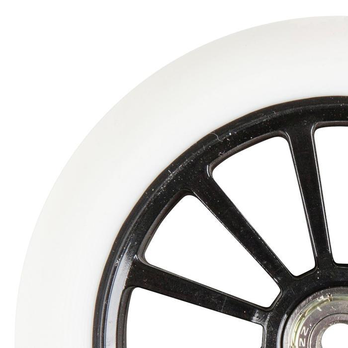1 stepwiel 125 mm wit met lagers