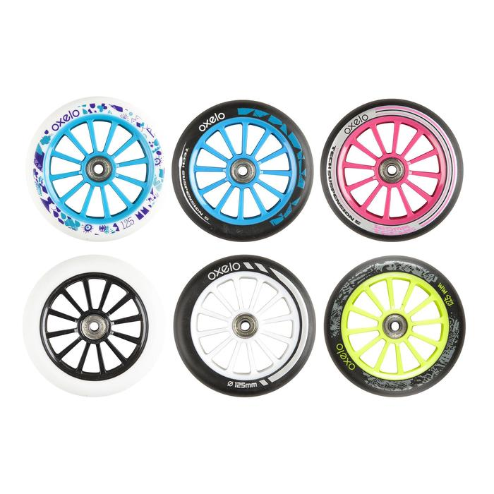 Scooter-Rolle 125 mm PU mit Kugellager rosa