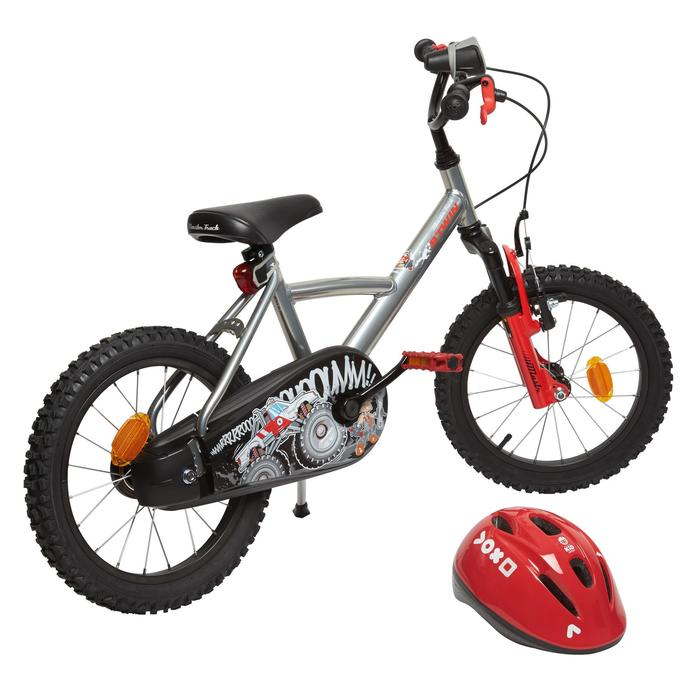 Fahrradhelm Kinder 300 rot