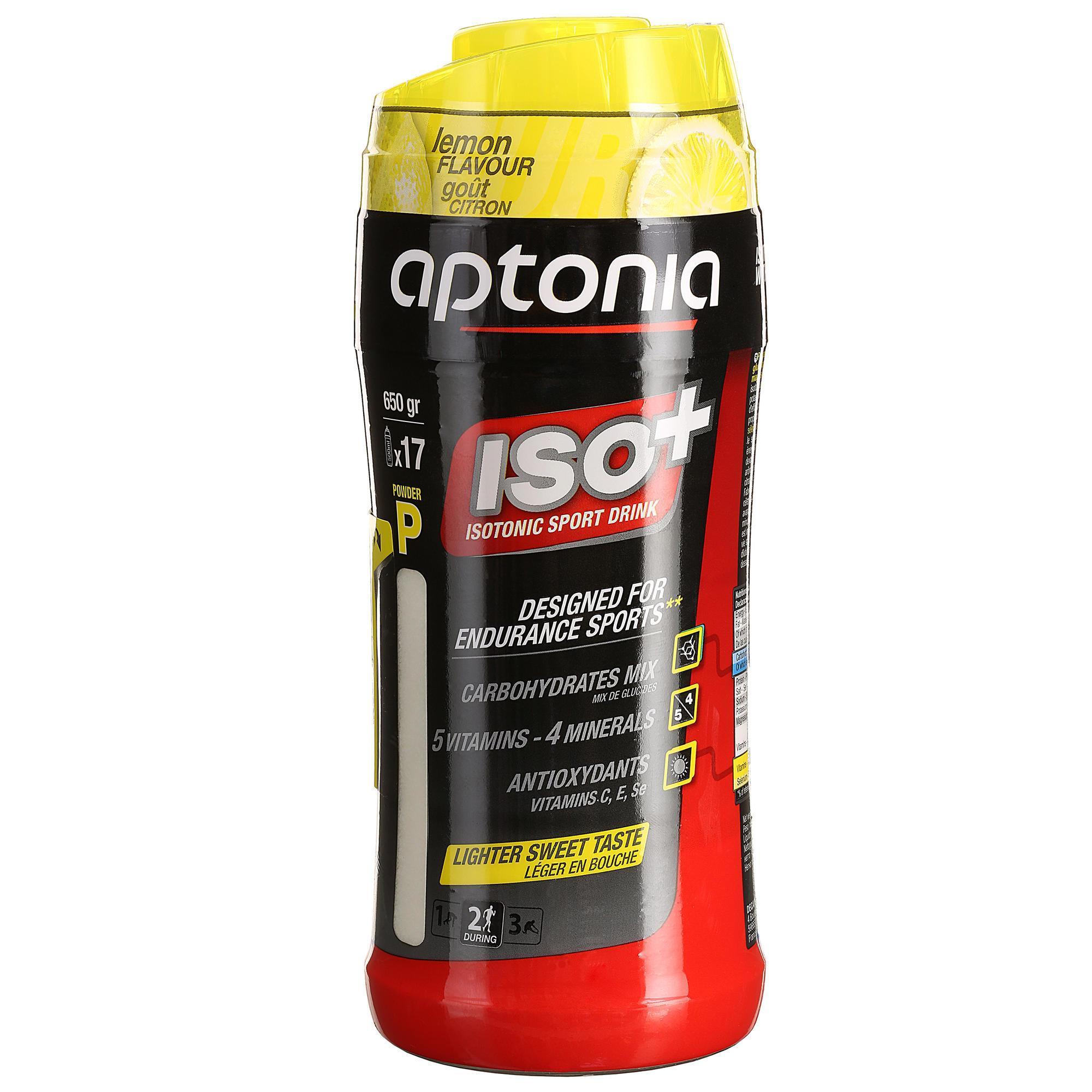 Aptonia Isotone drank in poedervorm ISO+ aarbei-kers 650 g