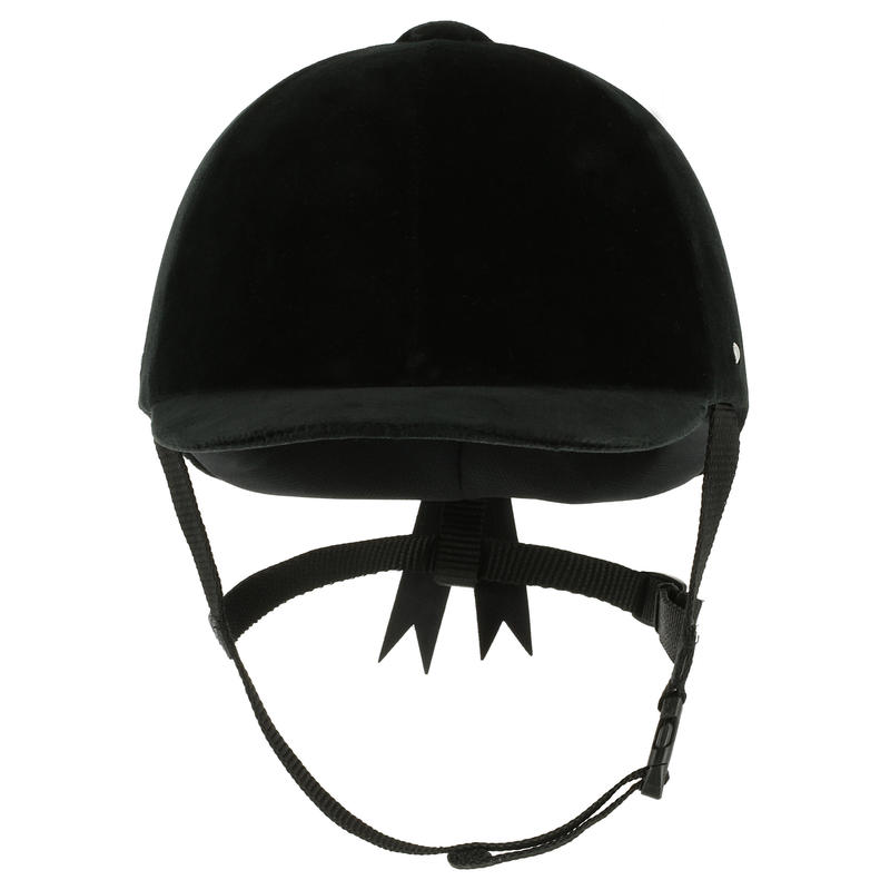 Casco Equitación C400 Terciopelo Negro - (Tallas 52 a 59 cm)