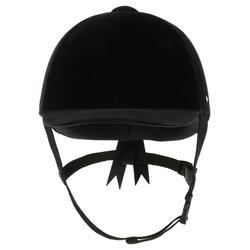 Paardrijcap C400 fluweel zwart (maat 52 tot 59 cm)