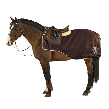 Training Horse Riding 3-in-1 Exercise Sheet for Horse - Brown