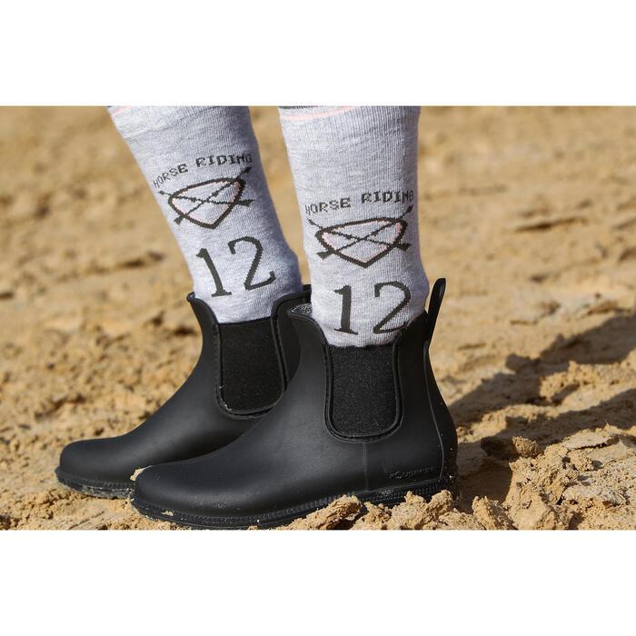 Boots équitation enfant et adulte SCHOOLING 100 noir - 335375